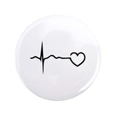 """Heartbeat 3.5"""" Button (100 pack)"""