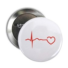 """Heartbeat 2.25"""" Button (10 pack)"""