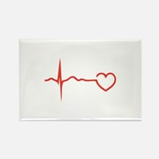 Heartbeat Rectangle Magnet (100 pack)
