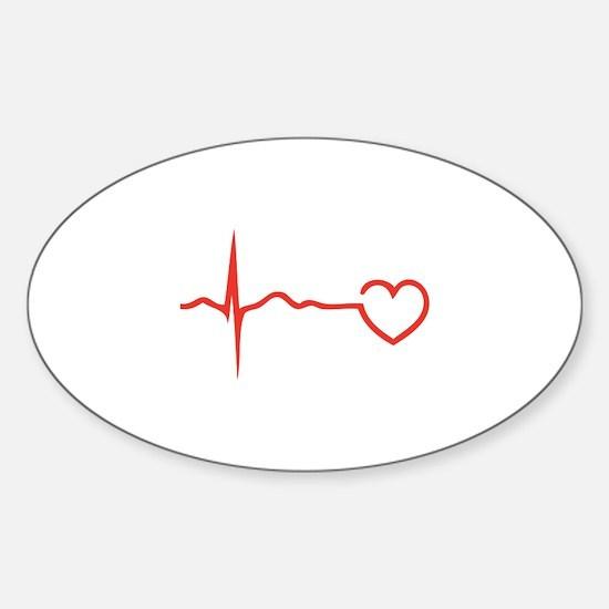 Heartbeat Sticker (Oval)