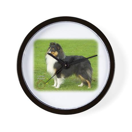 Shetland Sheepdog 9B055D-06 Wall Clock