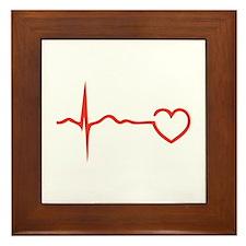 Heartbeat Framed Tile