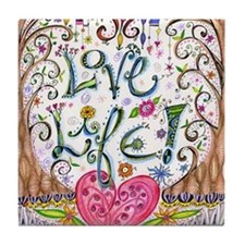 Love Life Tile Coaster