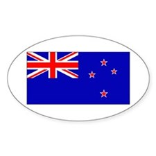 New Zealander Blank Flag Oval Decal