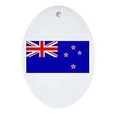 New Zealander Blank Flag Oval Ornament