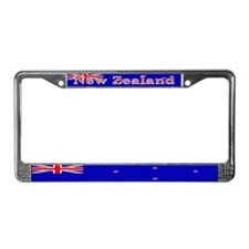 New Zealander Blank Flag License Plate Frame