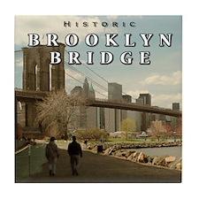Historic Brooklyn Bridge Tile Coaster