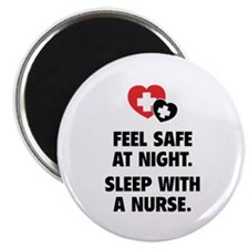 Feel Safe At Night Magnet