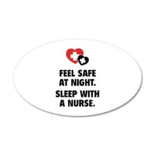 Feel Safe At Night 22x14 Oval Wall Peel