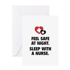 Feel Safe At Night Greeting Card