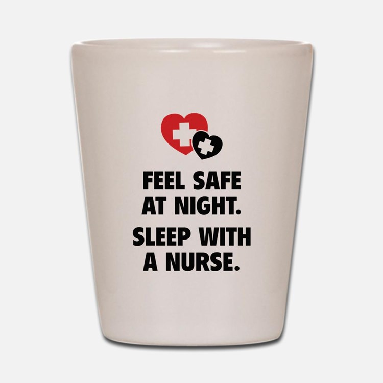 Feel Safe At Night Shot Glass