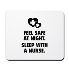 Feel Safe At Night Mousepad