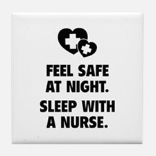 Feel Safe At Night Tile Coaster