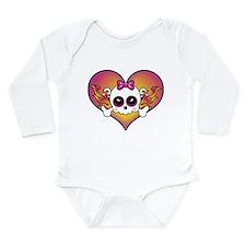 Cute Girly skull Long Sleeve Infant Bodysuit