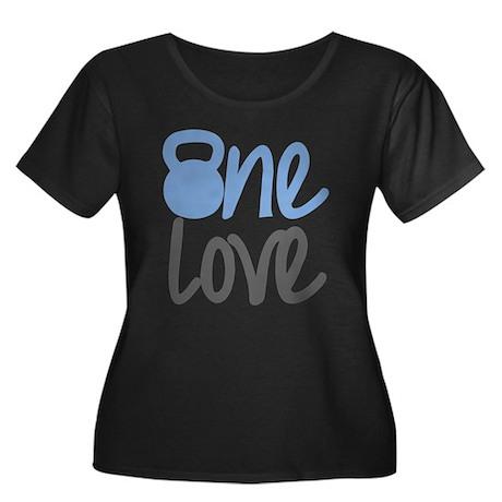Blue One Love Kettlebell Women's Plus Size Scoop N