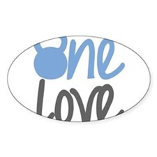 Blue One Love Kettlebell Decal