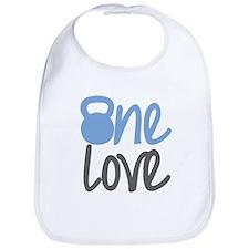 Blue One Love Kettlebell Bib