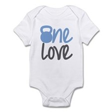 Blue One Love Kettlebell Infant Bodysuit