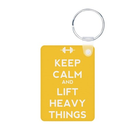 Keep Calm and Lift Heavy Things Aluminum Photo Key