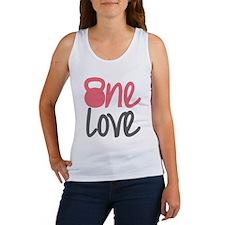 Pink One Love Kettlebell Women's Tank Top