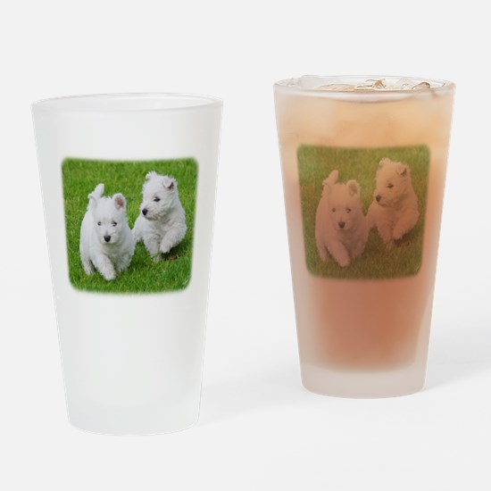 West Highland White Terrier AA060D-024 Drinking Gl