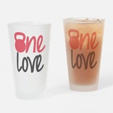 Pink One Love Kettlebell Drinking Glass