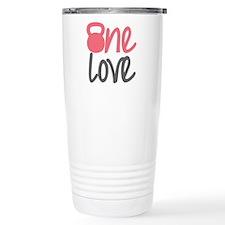 Pink One Love Kettlebell Travel Mug