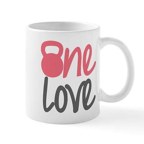 Pink One Love Kettlebell Mug