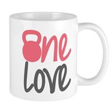 Pink One Love Kettlebell Small Mugs