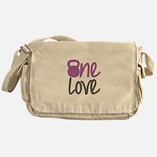 Purple One Love Kettlebell Messenger Bag