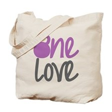 Purple One Love Kettlebell Tote Bag