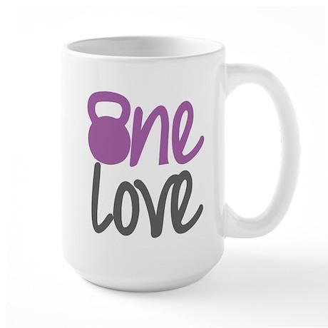 Purple One Love Kettlebell Large Mug