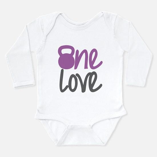 Purple One Love Kettlebell Long Sleeve Infant Body