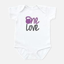 Purple One Love Kettlebell Infant Bodysuit