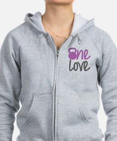 Purple One Love Kettlebell Zip Hoodie