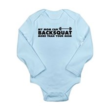My Mom Can Backsquat Long Sleeve Infant Bodysuit
