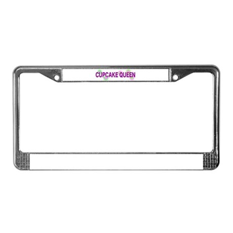 Cupcake Queen License Plate Frame