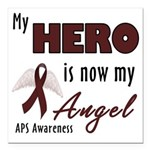 """My Hero is Now My Angel Square Car Magnet 3"""""""