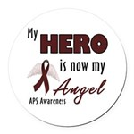 My Hero is Now My Angel Round Car Magnet