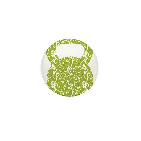 Organic Green Vine Kettlebell Mini Button