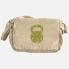 Organic Green Vine Kettlebell Messenger Bag
