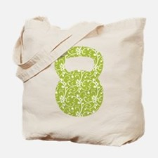 Organic Green Vine Kettlebell Tote Bag