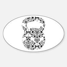 Damask Kettlebell Sticker (Oval)