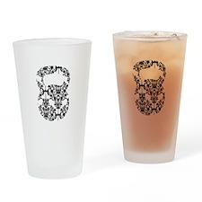 Damask Kettlebell Drinking Glass