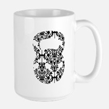 Damask Kettlebell Ceramic Mugs