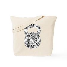 Damask Kettlebell Tote Bag