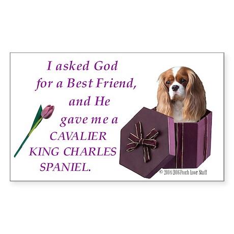 God Gave Me A Cavalier Rectangle Sticker