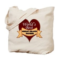 Cute Worlds greatest grandpa Tote Bag
