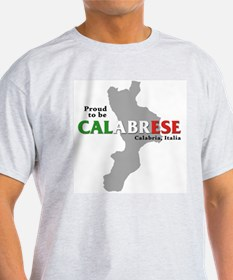 Proud to be Calabrese Ash Grey T-Shirt