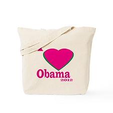 I Love Obama 2012 Tote Bag